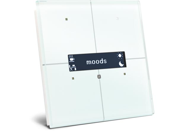 glass control module with oled display and temperature